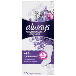 Always Прокладки гигиенические женские ароматизированные на каждый день (16 шт), размер 3 8