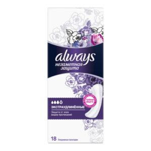 Always Прокладки гигиенические женские ароматизированные на каждый день (18 шт), размер 4 6