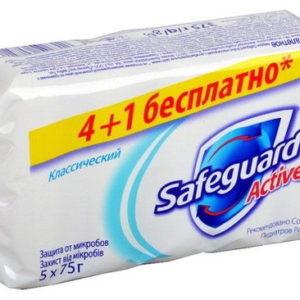 Safeguard Мыло туалетное классическое ослепительно белое с антибактериальным эффектом (5 х 70 г), 350 г 45