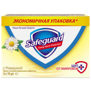 Safeguard Мыло туалетное с ромащкой с антибактериальным эффектом (5 х 70 г), 350 г 3