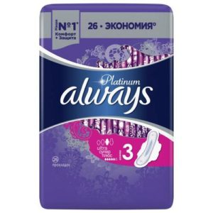 Always Platinum Ultra Прокладки гигиенические женские ультратонкие Super Plus (26 шт), размер 3 3