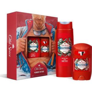 Old Spice Набор для мужчин Человеку-легенде (гель для душа, твердый дезодорант), 1 шт 13