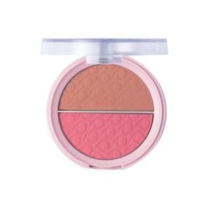 Pretty Румяна матовые двухцветные для лица Matte Blush, тон 001 pinky peach, 9 г 5