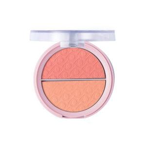 Ptetty Румяна матовые двухцветные для лица Matte Blush, тон 002 peach love, 9 г 4