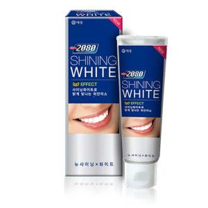 Dental Clinic 2080 Shining White Зубная паста Сияющая Белизна 3D отбеливающий эффект 100 г 5
