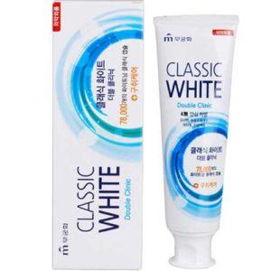 Mukunghwa Зубная паста отбеливающая мята и ментол двойного действия с микрогранулами Classic White, 110 г 18