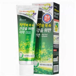 Mukunghwa Зубная паста гелевая охлаждающая с экстрактом липового цвета Real Cool Toothpaste, 110 г 40