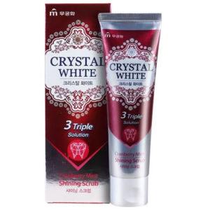 Mukunghwa Зубная паста гелевая клюква и мята (тройной комплекс) Crystal White Shining Scrub, 110 г 12