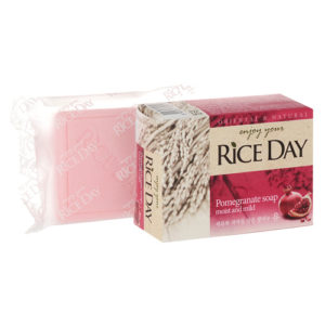 Мыло кусковое CJ Lion Rice Day Экстракт граната и пиона, 100 г 4