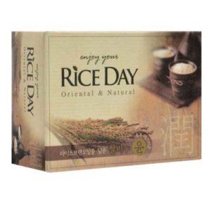 Rice Day Мыло туалетное для тела с рисовыми отрубями Rice Bran Oil Soap, 100 г 44