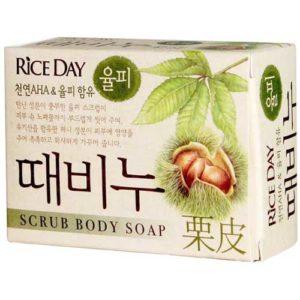 Rice Day Мыло туалетное с эффектом скраба земляной орех Chestnut Shell, 100 г 45
