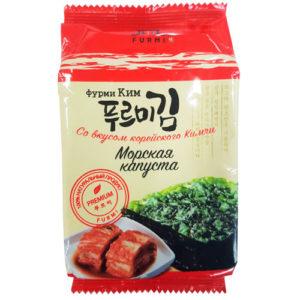 Furmi Морская капуста со вкусом корейского Кимчи 10 листов, 5 г 4