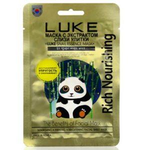 Luke Маска-салфетка для лица с экстрактом улиточной слизи (регенерация, омоложение, увлажнение и отбеливание) Snail Essense Mask, 21 г 70