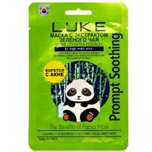 Luke Маска-салфетка для лица с экстрактом зеленого чая (для проблемной кожи лица, снимает воспаление, матирует) Green Tea Essense Mask, 21 г 69
