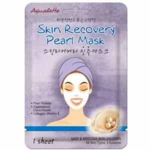 Aqualette Маска для лица восстанавливающая с жемчужной пудрой Skin Recovery Pearl Mask, 17 мл 1