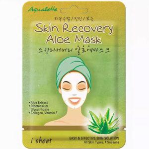 Aqualette Маска для лица восстанавливающая с экстрактом Алоэ Вера Skin Recovery Aloe Mask, 17 мл 54