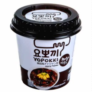 Yopokki Токпокки с соевым соусом Чачжан (мягкие рисовые палочки с соусом) Jjajang Topokki, 120 г 3