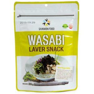 Samwon Food Хлопья из морских водорослей обжаренные Wasabi васаби, 20 г 7