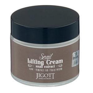 Jigott Snail Lifting Cream Подтягивающий крем для лица с экстрактом слизи улитки, 70 мл 13