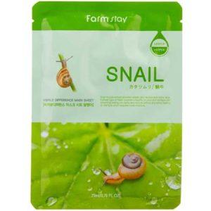 Farmstay Маска тканевая для лица с высоким содержанием улиточного муцина (восстанавливает, способствует регенерации) Mask Sheet Snail, 23 мл 63
