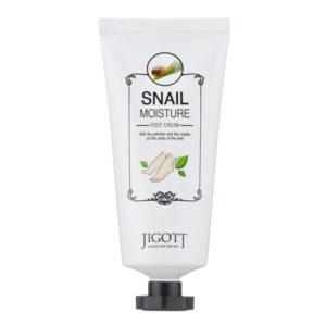 Jigott Snail Moisture Крем для ног с экстрактом слизи улитки, 70 мл 2