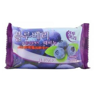 Juno Мыло-пилинг для рук и тела с экстрактом черники Samsung Blueberry Peeling Soap, 150 г 36