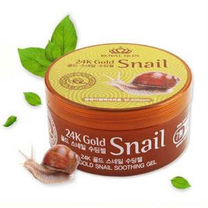 Royal Skin Гель многофункциональный для лица и тела с 24-каратным золотом и улиточной слизью, 300 мл 55
