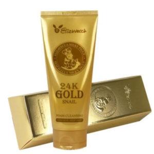 Elizavecca Пенка для умывания очищающая с добавлением 24K золота и муцином улитки, 180 мл 1