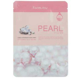 Farmstay Маска тканевая для лица Pearl разглаживающая, с экстрактом жемчуга, 23 мл 34