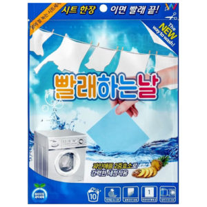 Wash Day Стиральный порошок листовой для стирки, 10 листов х 2.5 г 4