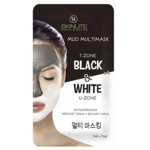 Skinline Мультимаска чёпная глина + белая глина для кожи комбинированного типа, 7 мл + 7 мл 52
