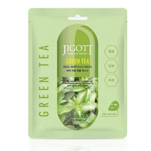 Jigott Ампульная маска c экстрактом зеленого чая, 27 мл 6
