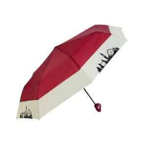 Зонт женский Angel полуавтомат, 3 сложения, R49, 8 спиц, п/эт 15